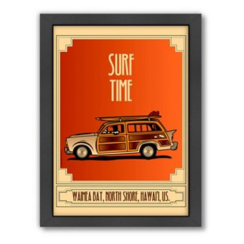 Americanflat ''Surf Time'' Framed Wall Art