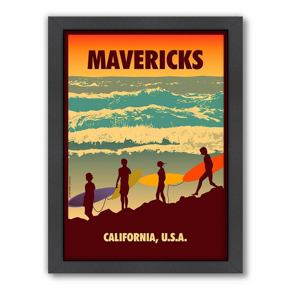 Americanflat ''Mavericks'' Surf Framed Wall Art