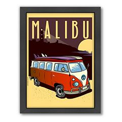 Americanflat ''Malibu, California'' Framed Wall Art