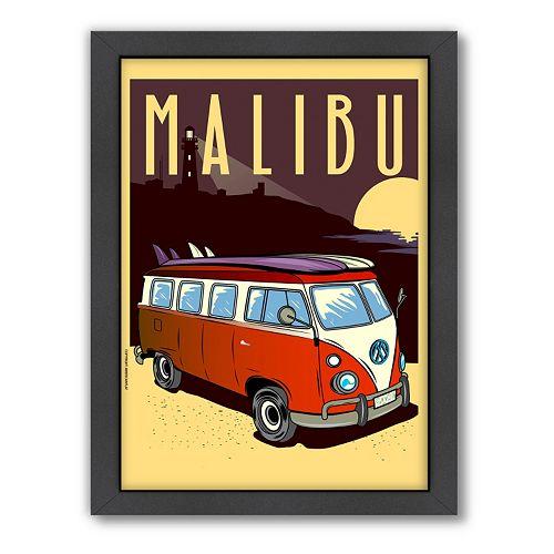 Americanflat ''Malibu, California'' Framed Wall Art