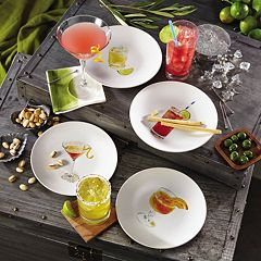 Rachael Ray Cocktails 4 pc Party Plate Set