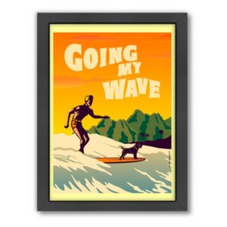 Americanflat ''Going My Wave'' Framed Wall Art