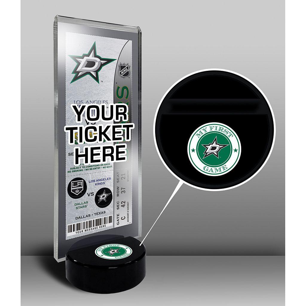 Dallas Stars Hockey Puck Ticket Display Stand