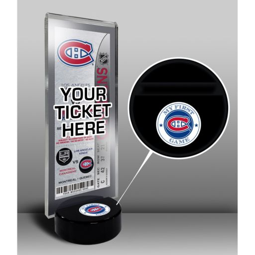 Montreal Canadiens Hockey Puck Ticket Display Stand