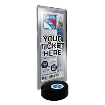 New York Rangers Hockey Puck Ticket Display Stand