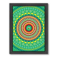 Americanflat Patricia Pino Green Geometric Framed Wall Art