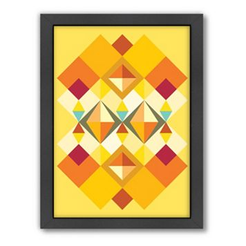 Americanflat Patricia Pino Squares Framed Wall Art