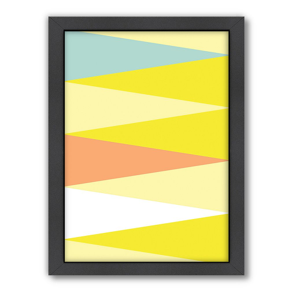 Americanflat Patricia Pino ''Spring Triangle'' Framed Wall Art
