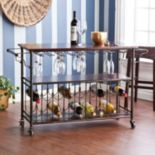 Ashton 18-Bottle Wine & Bar Cart
