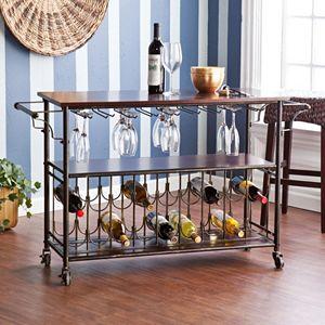 Ashton 18-Bottle Wine and Bar Cart