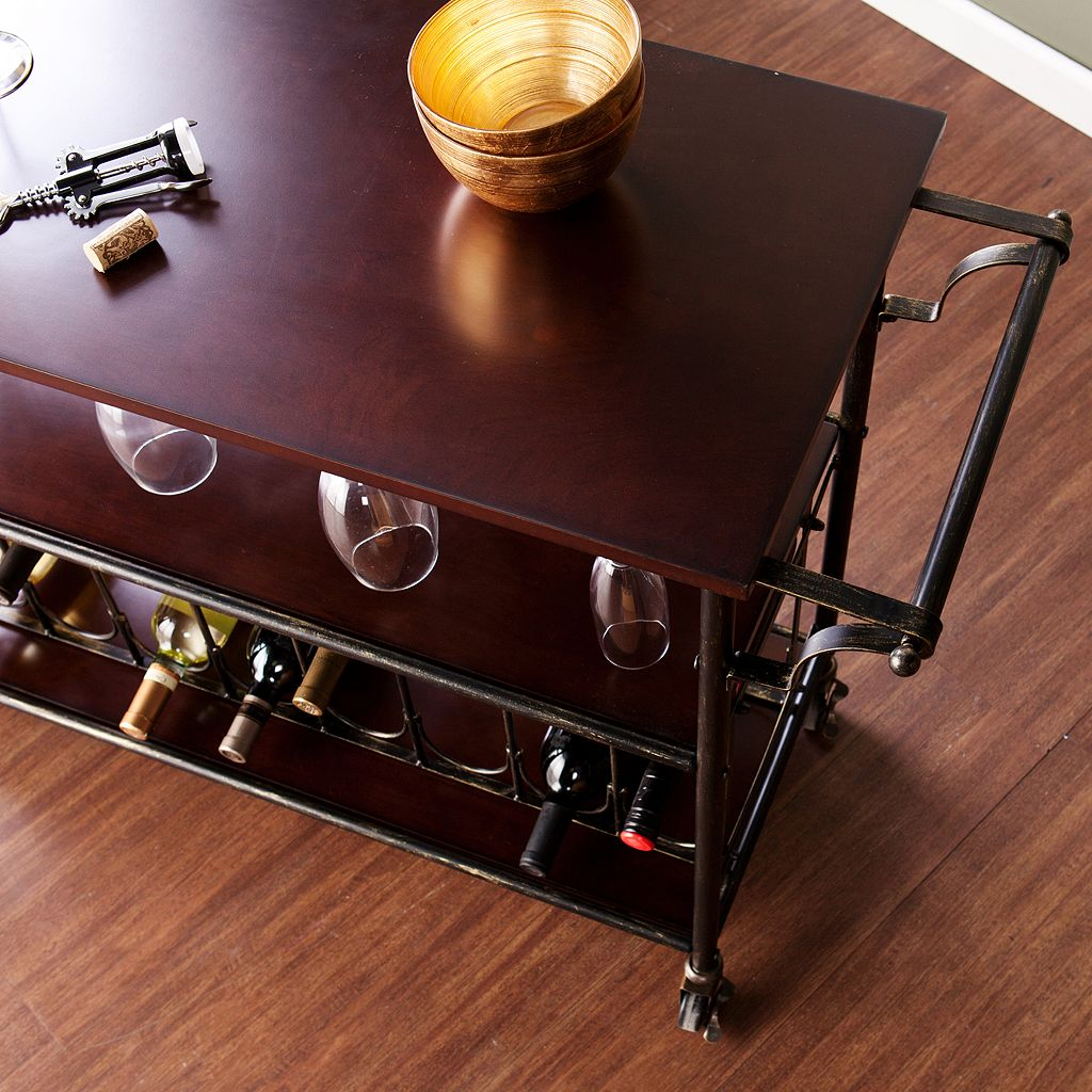 Ashton 18-Bottle Wine and Bar Cart