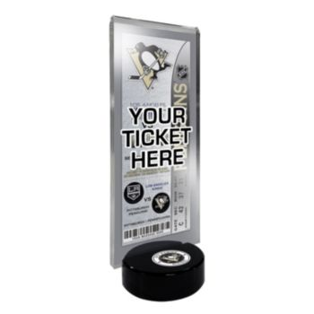 Pittsburgh Penguins Hockey Puck Ticket Display Stand