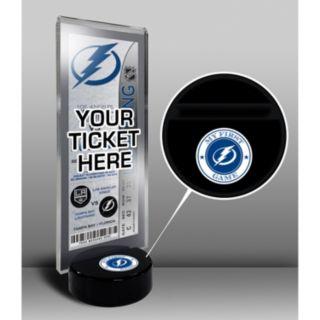 Tampa Bay Lightning Hockey Puck Ticket Display Stand