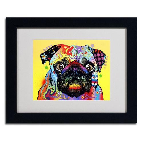 """""""Pug"""" Framed Canvas Wall Art"""