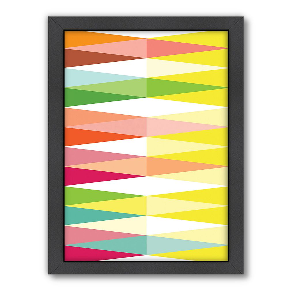 Americanflat Patricia Pino ''Spring Geometric Triangle'' Framed Wall Art