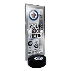 Winnipeg Jets Hockey Puck Ticket Display Stand