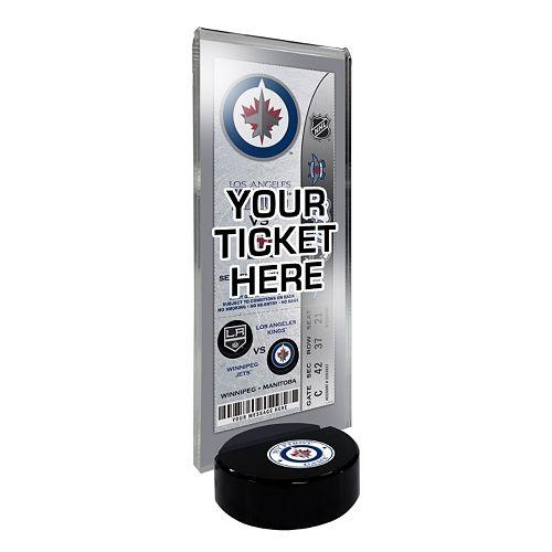 Winnipeg Jets Hockey Puck Ticket Display Stand