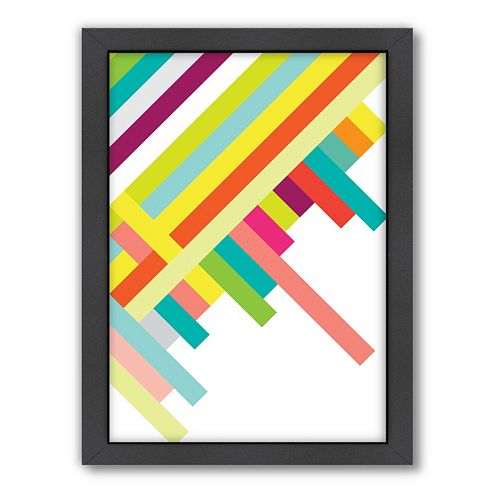 Americanflat Patricia Pino ''Spring Geometric'' Framed Wall Art