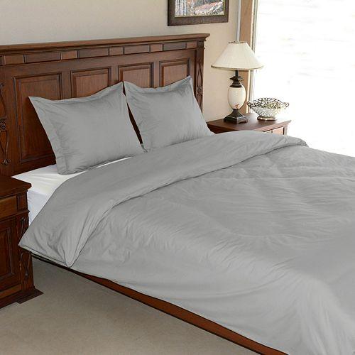 Egyptian Cotton Percale 3-pc. Duvet Cover Set - Queen