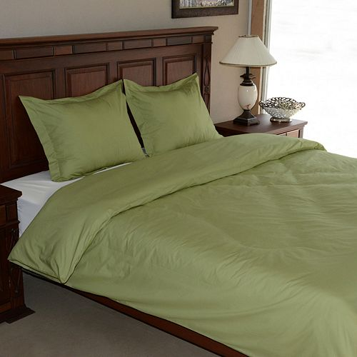 Egyptian Cotton Percale 3-pc. Duvet Cover Set - King
