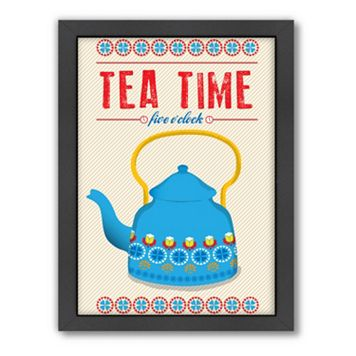 Americanflat Patricia Pino ''Tea Time'' Framed Wall Art