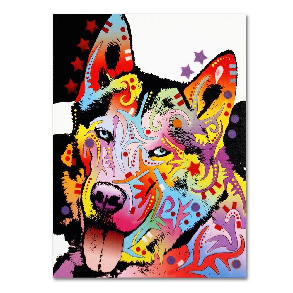 "47"" x 35"" ""Siberian Husky"" Canvas Wall Art"