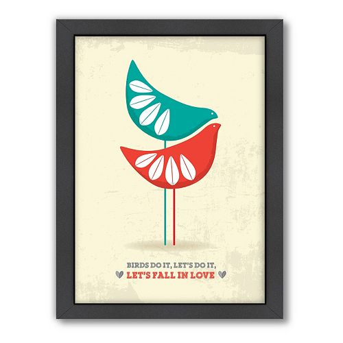 Americanflat Patricia Pino ''Let's Fall In Love'' Framed Wall Art