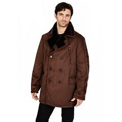Mens Brown Peacoat Outerwear Clothing | Kohl's
