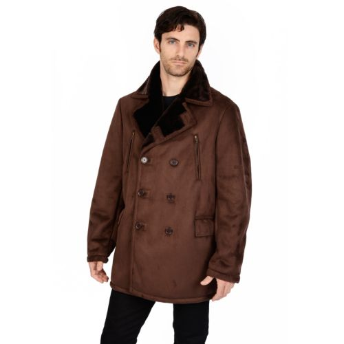 Excelled Faux-Shearling Pea Coat