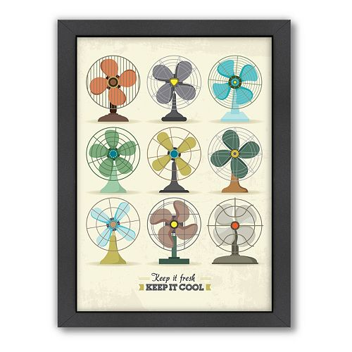 Americanflat Patricia Pino ''Fans'' Framed Wall Art