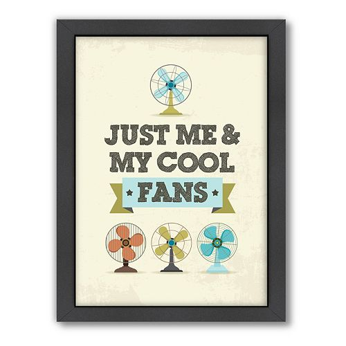 Americanflat Patricia Pino ''Cool Fans'' Framed Wall Art