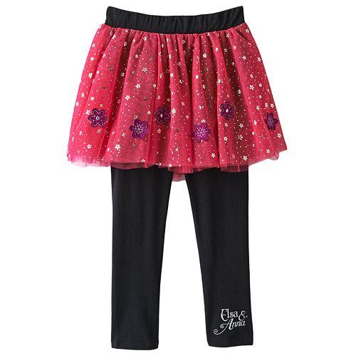 8e51d926363b6 Disney Frozen Elsa & Anna Tutu Leggings by Jumping Beans® - Girls 4 - 7