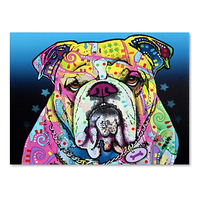 "47"" x 35"" ""The Bulldog"" Canvas Wall Art"