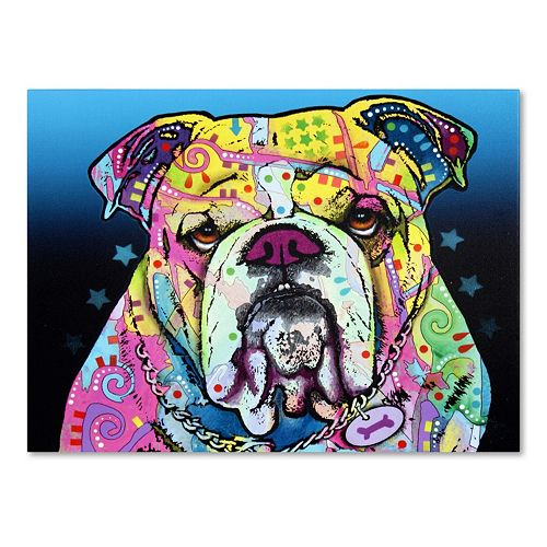 "47"" x 35"" ""The Bulldog"" Canvas Wall Art"