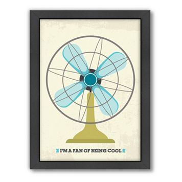 Americanflat Patricia Pino ''Retro Fan I'' Framed Wall Art