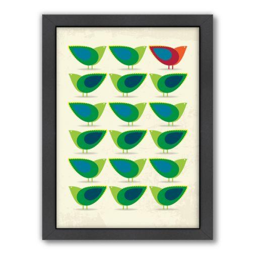 Americanflat Patricia Pino ''Birds Illustration II'' Framed Wall Art