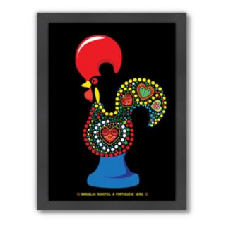Americanflat Patricia Pino ''Rooster'' Framed Wall Art