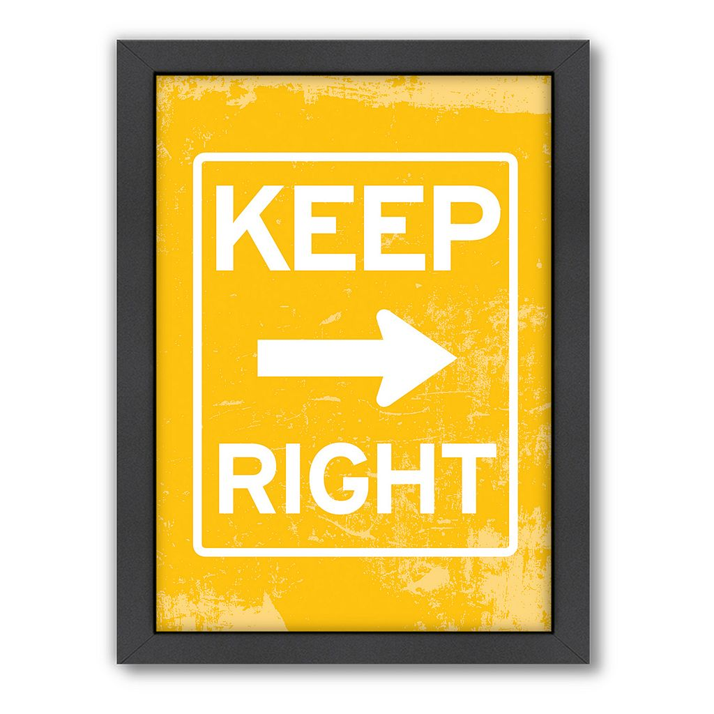 Americanflat Patricia Pino ''Keep Right'' Framed Wall Art