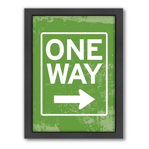 Americanflat Patricia Pino ''One Way'' Framed Wall Art