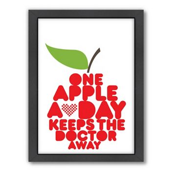 Americanflat Patricia Pino ''One Apple A Day'' Framed Wall Art