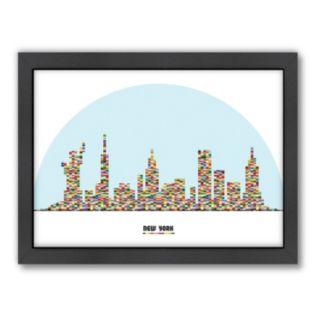 Americanflat Patricia Pino ''New York City Skyline'' Framed Wall Art