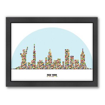 Americanflat Patricia Pino ''New York City Skyline'' Framed Wall Art