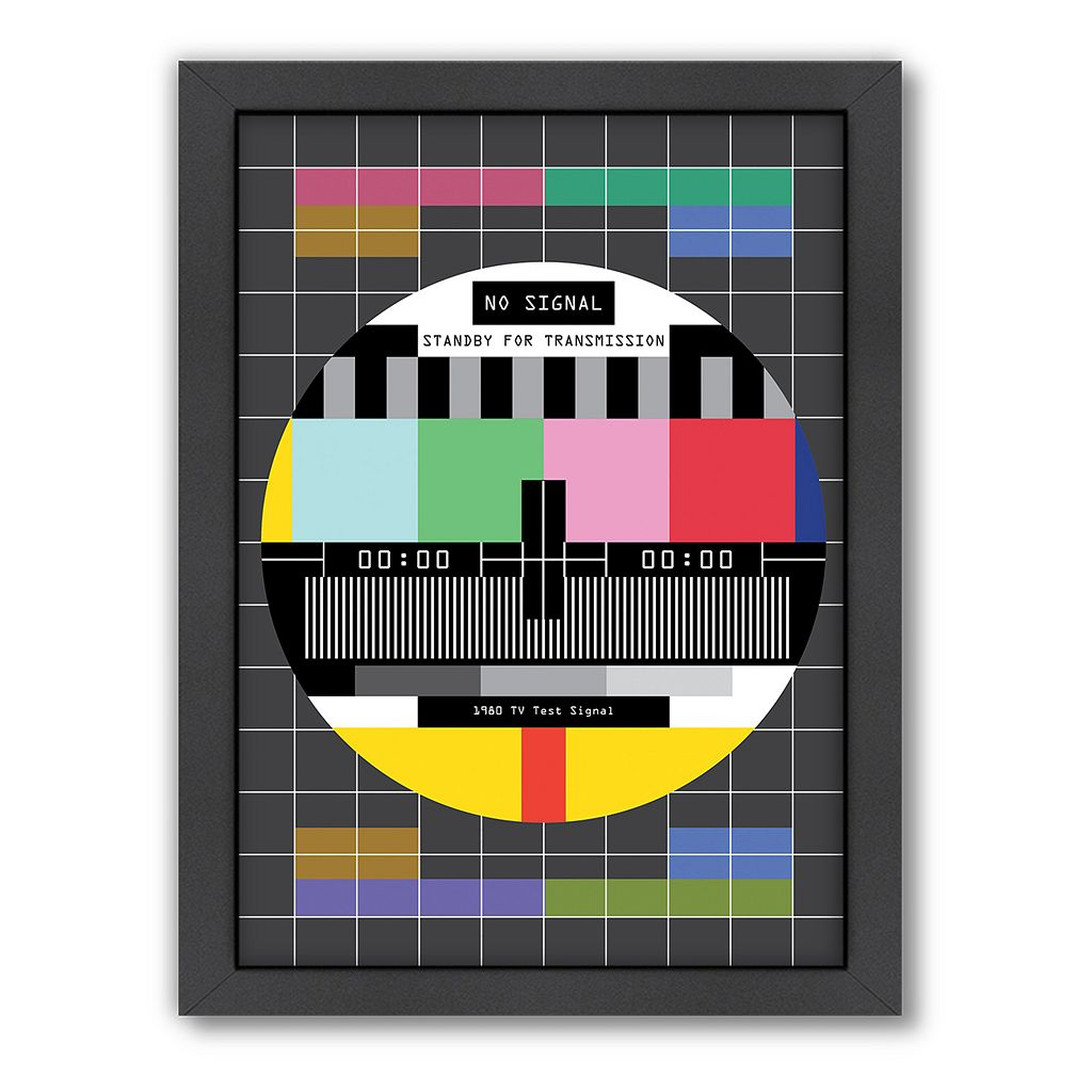 Americanflat Patricia Pino ''TV Signal'' Abstract Framed Wall Art