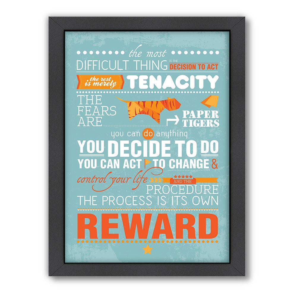 Americanflat Patricia Pino ''Amelia Earhart Decision to Act'' Framed Wall Art