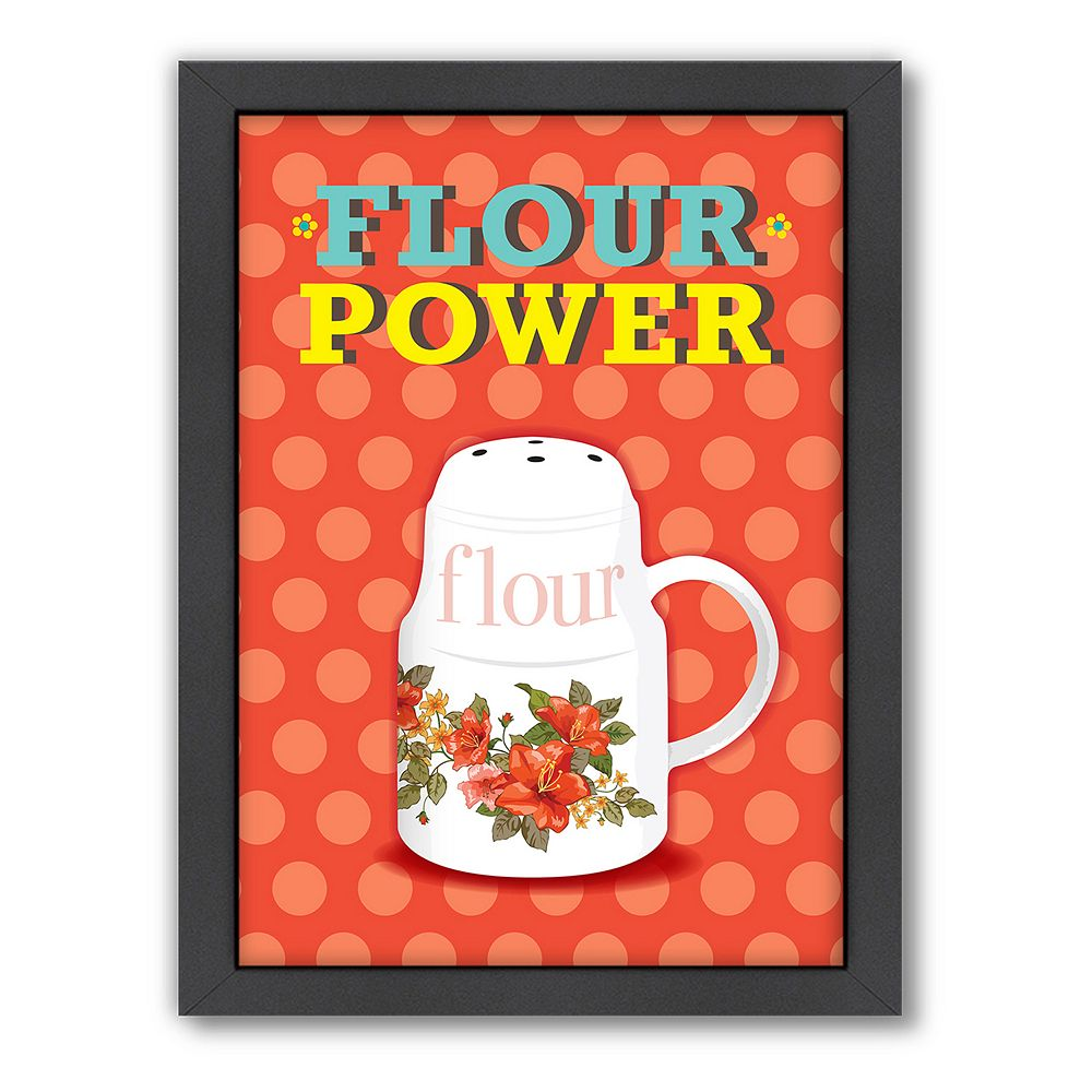 Americanflat Patricia Pino ''Flour Power'' Framed Wall Art