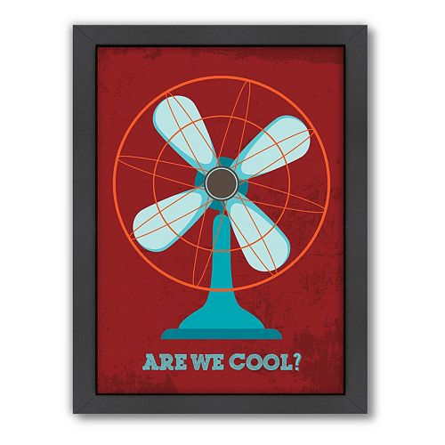 Americanflat Patricia Pino ''Are We Cool'' Framed Wall Art