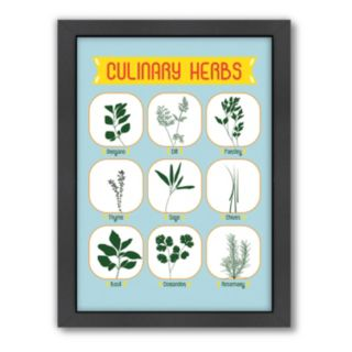 Americanflat Patricia Pino ''Culinary Herbs'' Framed Wall Art