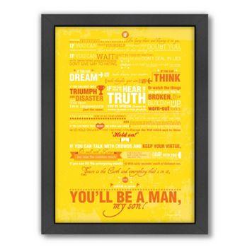 Americanflat Patricia Pino ''You'll Be A Man'' Framed Wall Art