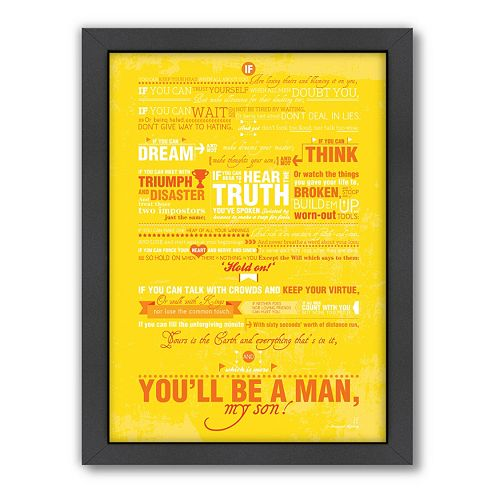Americanflat Patricia Pino ''You'll Be A Man'' Framed Wall Art