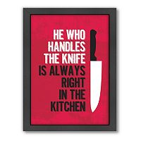 Americanflat Patricia Pino ''Handle The Knife'' Framed Wall Art